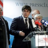 "Carles Puigdemont denounces the ""outrage"" of the sentences"