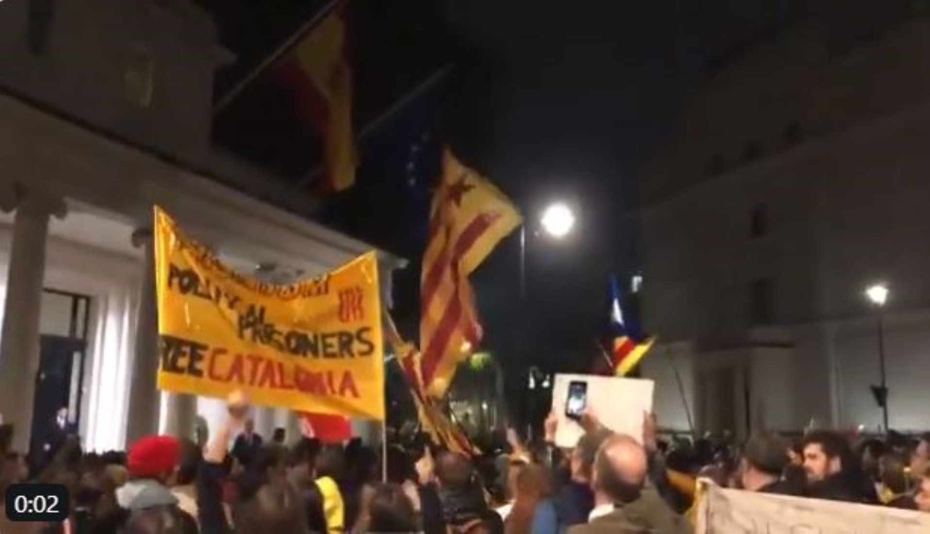 Large protest in London over Catalan trial verdicts - In English