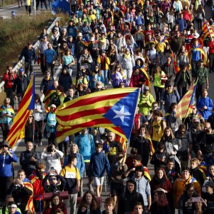 "Thousands of Catalans begin three-day ""Marches for Freedom"" converging on Barcelona"