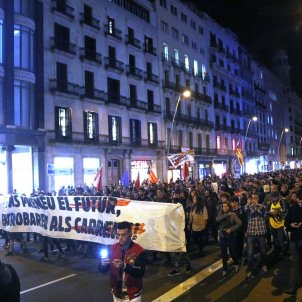 Weekend of protests in Barcelona begins with twin marches through central city
