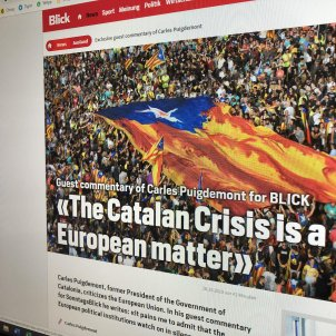 """The Catalan crisis is a European matter"", Puigdemont tells Switzerland's Blick"