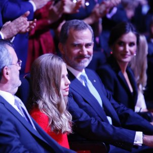 King Felipe speaks in Catalonia in the middle of the Spanish general election campaign