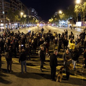 Protesters block main roads into Barcelona