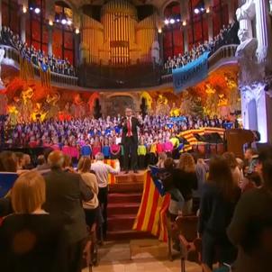 VIDEO | Tsunami Democràtic reappears at choral concert in Barcelona's Palau de la Música