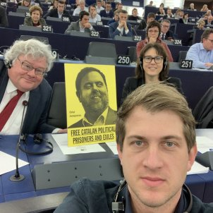 Junqueras, elected president of the EFA group in the European Parliament