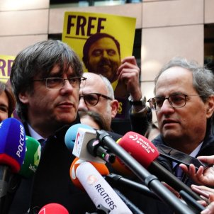 Puigdemont, by car to the European Parliament