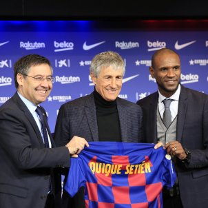 Quique Setién, Barça's new coach