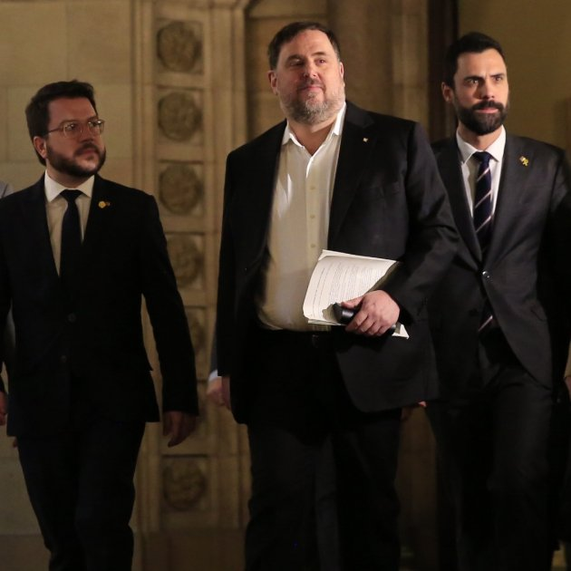 Oriol Junqueras' fellow prisoners ask for him to be restored to his MEP seat