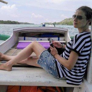 Sandra Barneda platja  instagram
