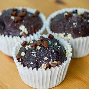 Magdalenes de civada i xocolata- Pastissos