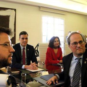Aragones Torra Sanchez Montoro taula dialeg Moncloa - ACN