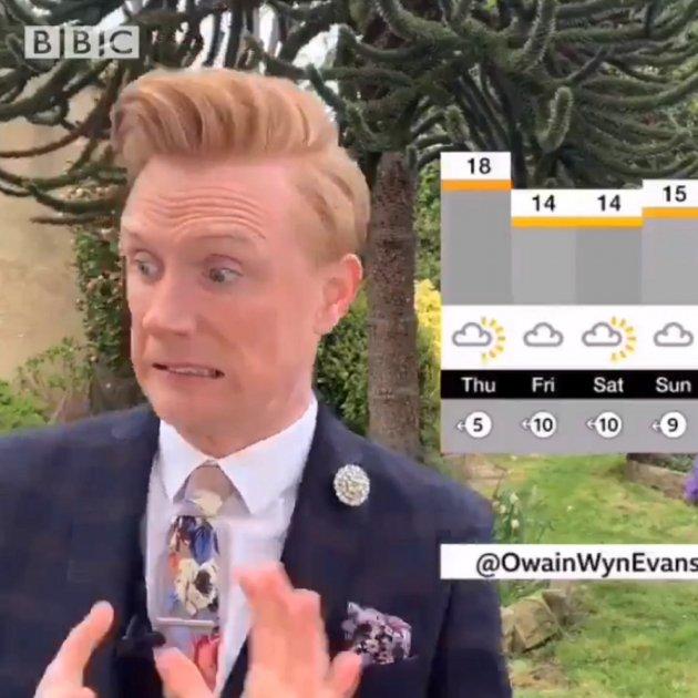 Owain Wyn Evans home temps BBC
