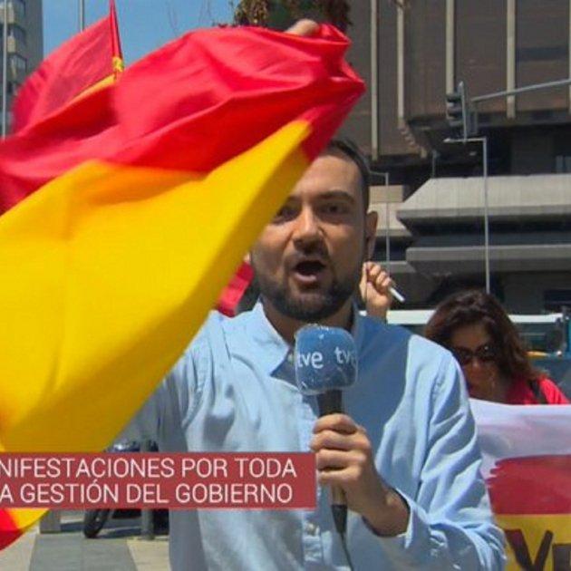 Gabriel Lopez TVE manifestacio Vox Madrid