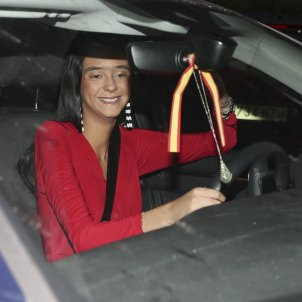 Victoria Federica cotxe bandera espanyola GTRES