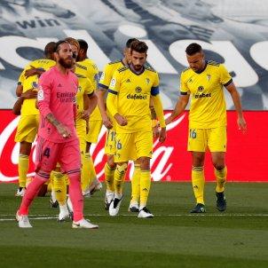 Celebracio gol Cadis Reial Madrid Ramos EFE