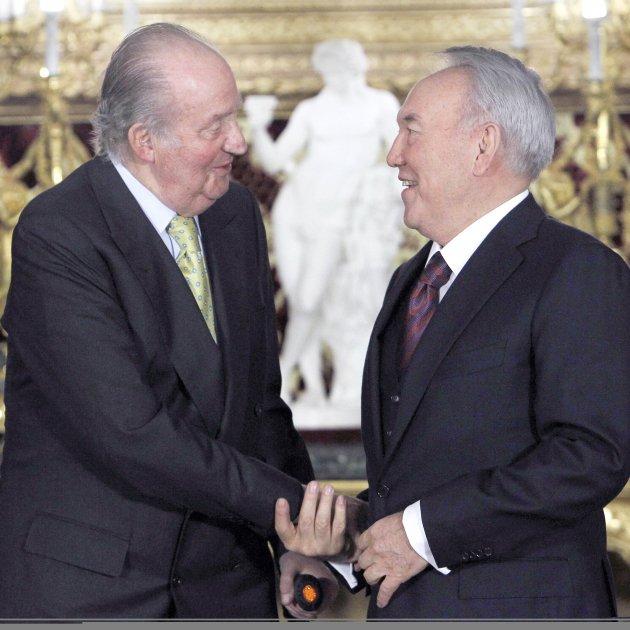 Joan Carles amb president Kazakhstan Nursultan Nazarbayev GTRES