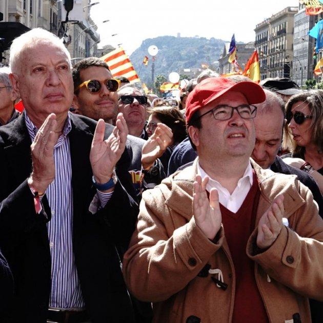 Iceta Margallo Millo manifestació unionista Roberto Lázaro