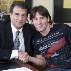 Laporta Messi FC Barcelona