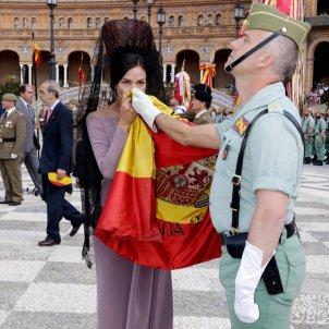 Inés Sastre jura bandera Sevilla GTRES