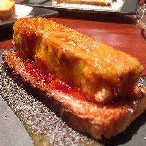 Lingote de foie caramelizado