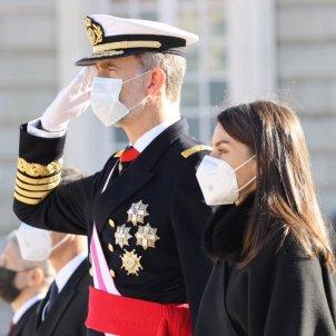 felipe letizia mascarillas pascua militar