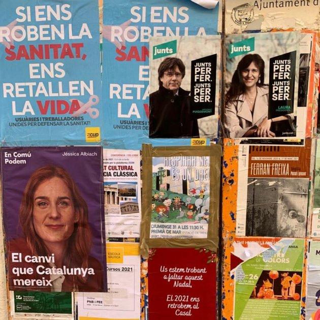 cartells electorals campanya eleccions 2021