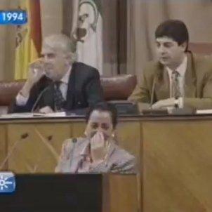 Rialla al parlament andalús
