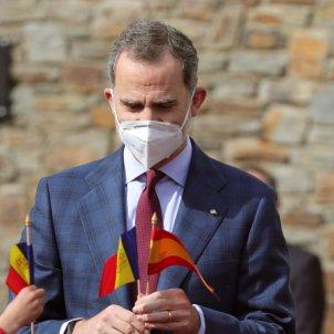 Felipe banderines Andorra y España EFE