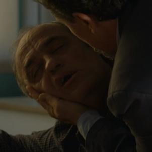 Francesc Orella a 'Merlí' al moment de morir. Merlí