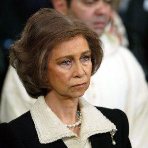 Reina Sofia plorant - EFE
