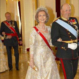 reina sofia i rei harald noruega  GTRES