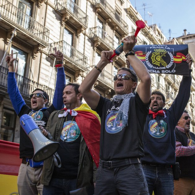 Jusapol policia Nacional Guardia civil manifestació policies - Sergi Alcàzar