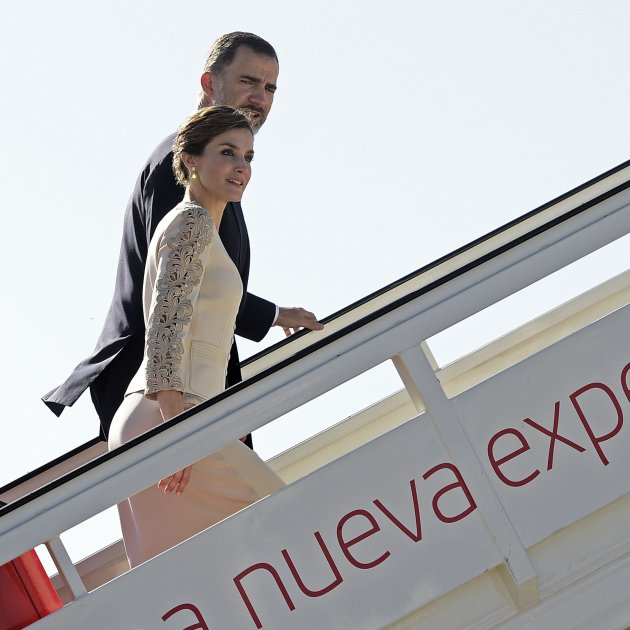 felip leticia marxen en avió GTRES