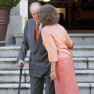 reina sofia petó Joan Carles  GTRES