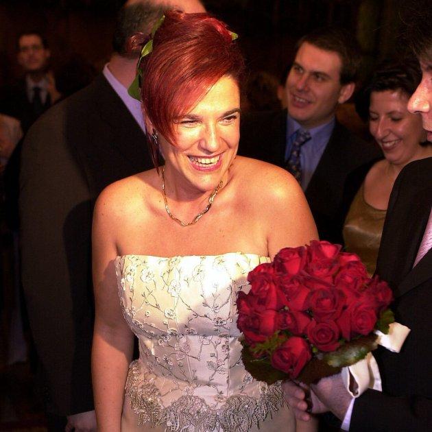 Pilar Rahola boda 03 03 2001 EFE