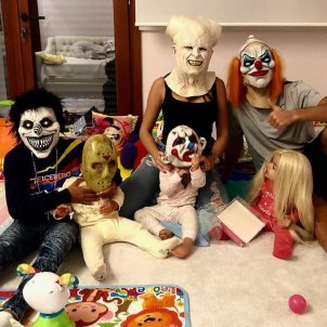 cristiano ronaldo i fills halloween  instagram