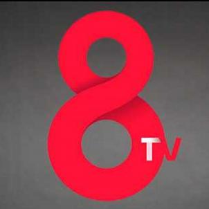 8tv logo negre