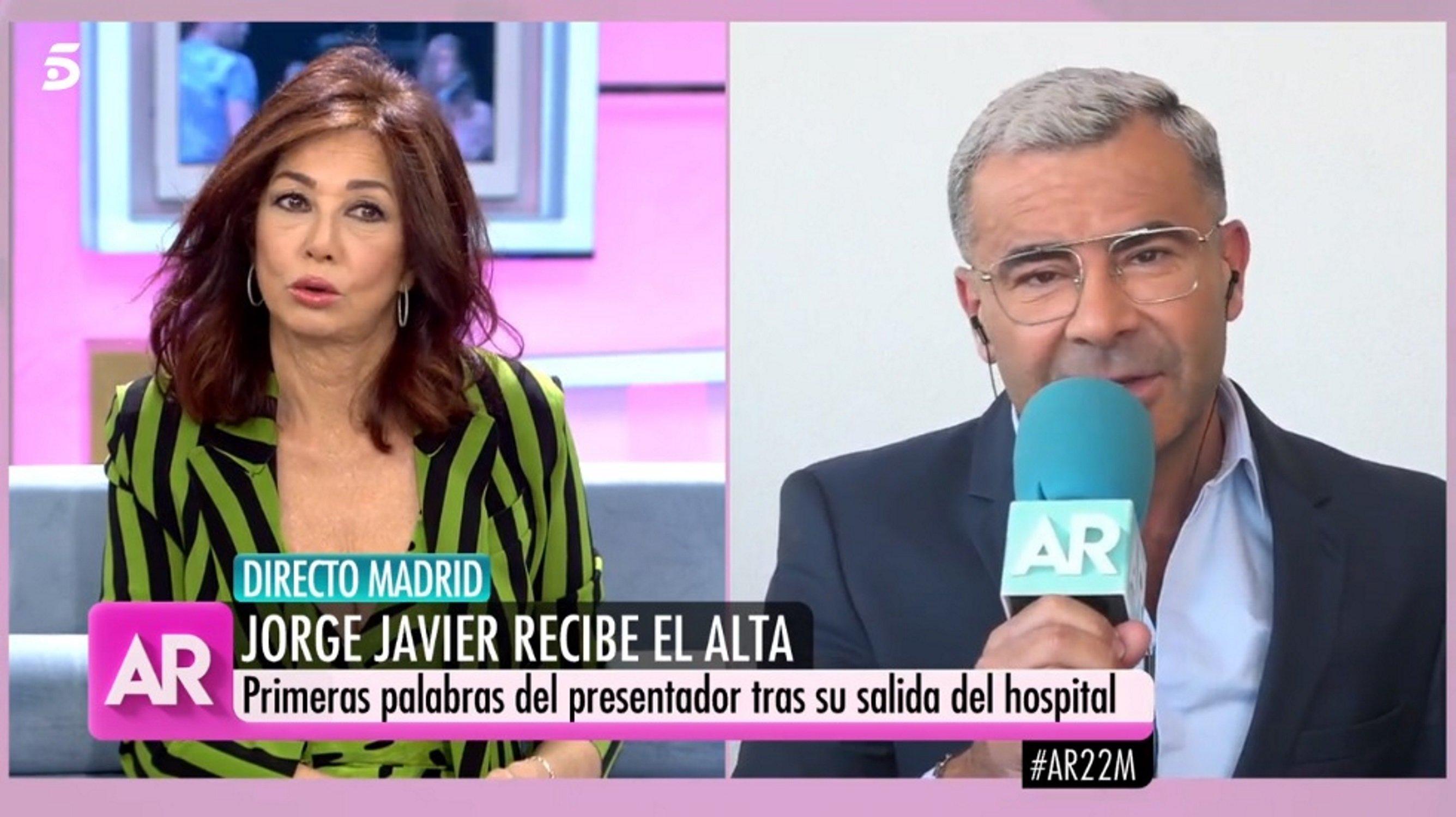 "Ana Rosa Quintana Follando jorge javier reaparece en tv, fuera del hospital: ""me"