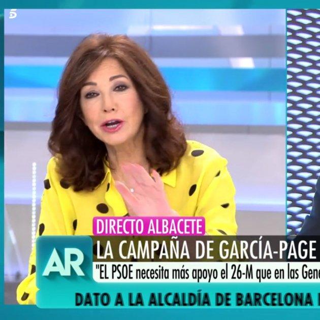 ana Rosa emiliano Garcia Page patas Telecinco