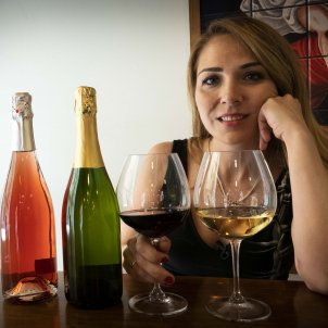 Meritxell Falgueras vi de festa Mònica Pérez