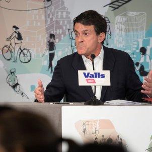 Valls roda de premsa ganyota EFE