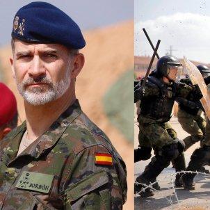 Rei Felip VI Antiavalots Guardia Civil   CasaReal i Efe