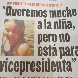 El Mundo prima Irene Montero
