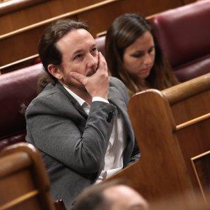 Pablo Iglesias ma a la cara Congrés Europa Press