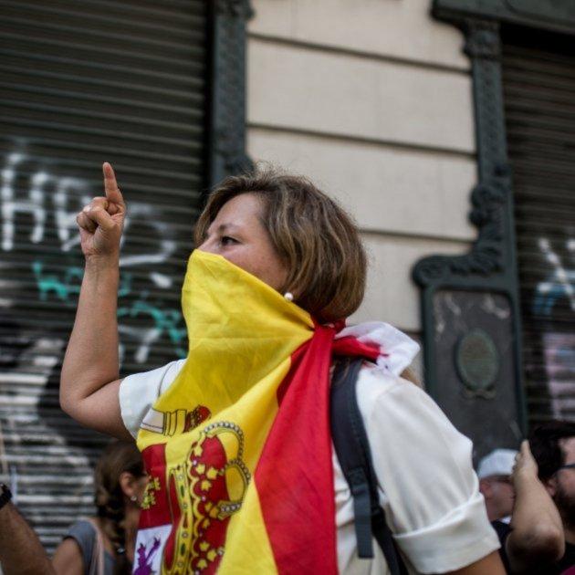 Ultra espanyolista cara tapada Carles Palacio