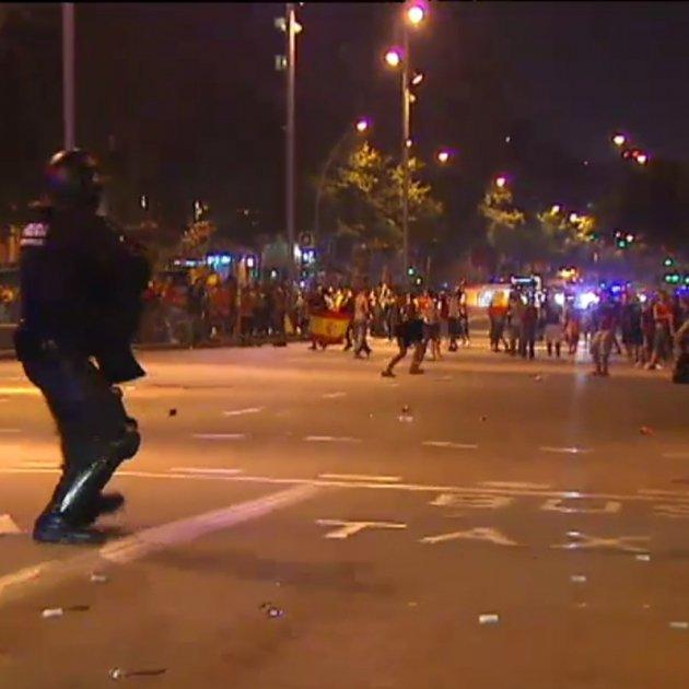 Celebració Mundial Espanya carregues Mossos 2010 Fira Barcelona TV3