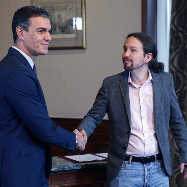 Pedro Sánchez Pablo Iglesias acord govern EFE