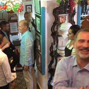 leticia i felip a un restaurant cubà FB