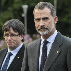 Carles Puigdemont rei Felip VI cares GTRES