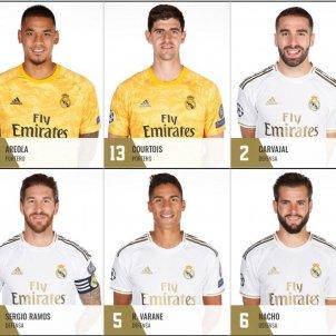 Plantilla Reial Madrid